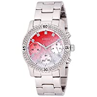 Guess Womens Quartz Watch, Analog Display and Stainless Steel Strap W0774L7