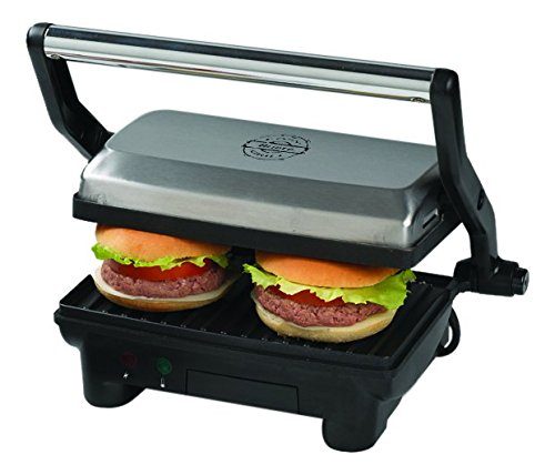 Ariete 00C191300AR0 3 in 1 Compact Panini Grill Edelstahl 1913 - Kontaktgrill, Grill und...