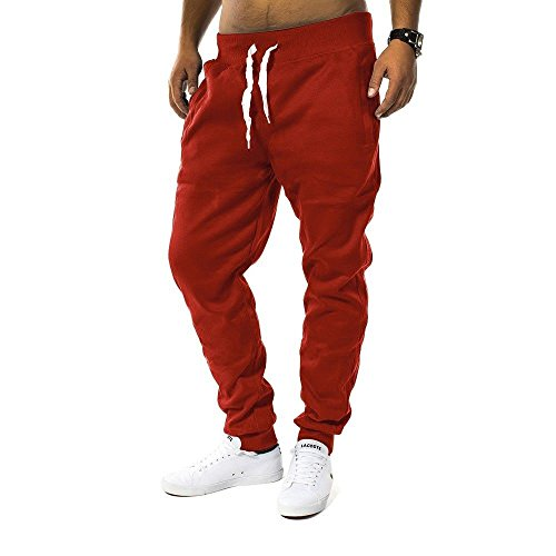 Herren Jogging Hose Fit & Home Sweat Pant Sporthose H1128 Rot