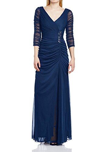 Ikerenwedding Damen Kleid Small Marineblau