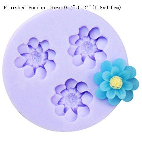 Mini Blumen Fondant Mold Silikon Zucker Harz Backformen Handwerk Formen DIY Kuchen dekoration (X150) (Mold Fondant Blume)