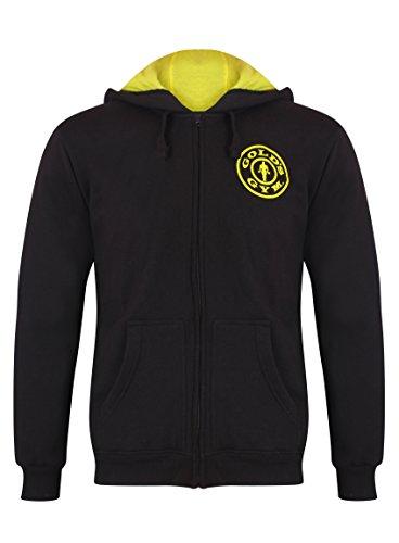 Golds Gym Herren Hoodie Zipper, schwarz, XL Schwarz Zipper Hoodie