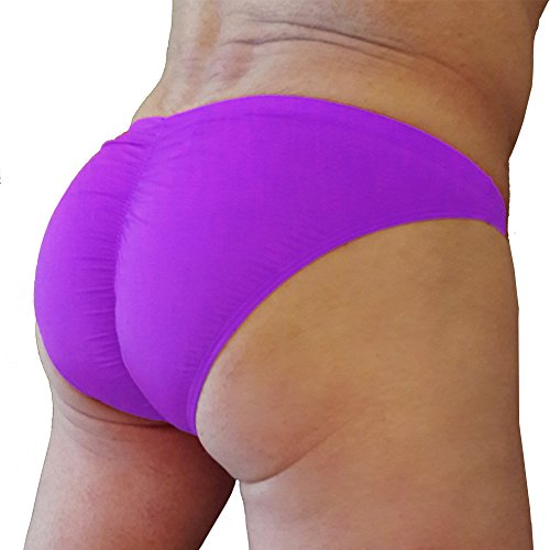 Summer Code Herren Sexy Unterhosen Bikini geraffte dehnbare Pantys Lila