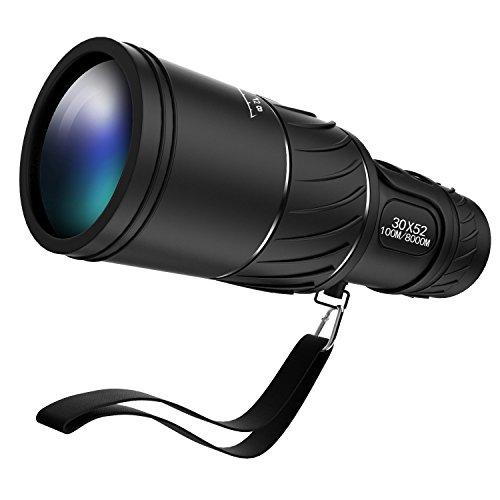 Foco Dual 30 x 52 Ipekoo telescopio verde lente óptica envergadura telescopio Monocular de viaje con tapa