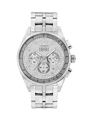 Cerruti 1881 Mens Chronograph Quartz Watch with Stainless Steel Strap CRA150SN04MS