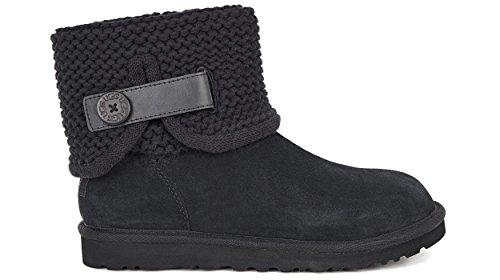 Ugg W Shaina Black Boots - Stivaletti Neri In Montone e Lana Black