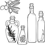 Qbbes Bottiglie Di Condimento Cafe Restaurant Food And Drink Wall Sticker Kitchen Art Decals 66X67Cm