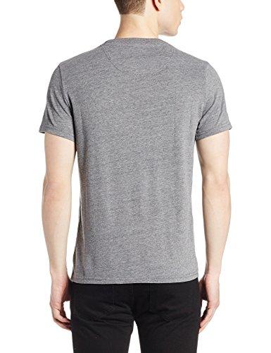 Superdry Herren T-Shirt Core Applique S/S Tee grau (Hoxton Grey MarlTZW)
