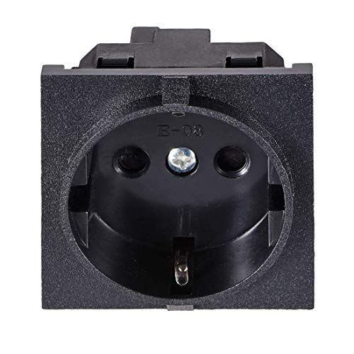 ZCHXD Panel Mount Outlet Adapter 250V AC 16A 3 Pins Power Socket Right Angle Electronic-outlet-panel