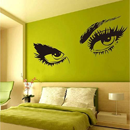 er Audrey Hepburn'S Sexy Eyes 3D Wandaufkleber Kunst Decals Home Decor Schwarz ()