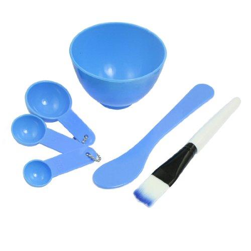sourcingmap Damen DIY Gesichtsmaske Mixing Stick Schale, Pinsel Set, 4in 1, Sky Blau