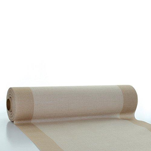 Sovie HORECA Tischläufer Mailand in hellbraun aus Linclass® Airlaid 40 cm x 24 m, 1 Stück