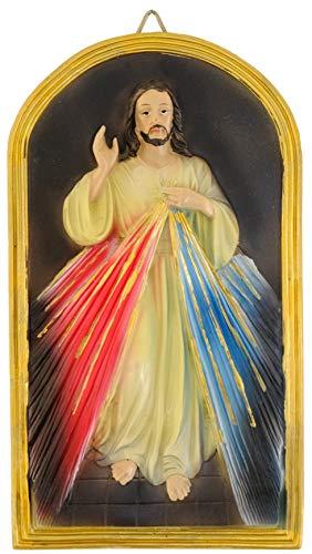 Kaltner Präsente Geschenkidee - Wandbild Barmherziger Christus Jesus (20 x 11 cm)