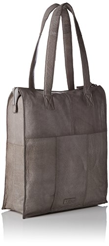 PIECES Damen Pcabby Leather Shopper Noos Schultertasche, 12 x 39 x 33 cm Grau (Elephant Skin)