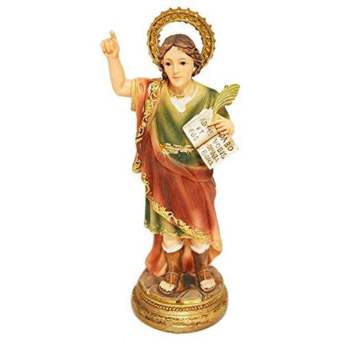 Figura Santo San Pancracio, 11 centímetros, resina