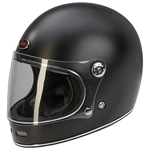Barock Retro B510 Integralhelm - Motorradhelm - Matt schwarz XL