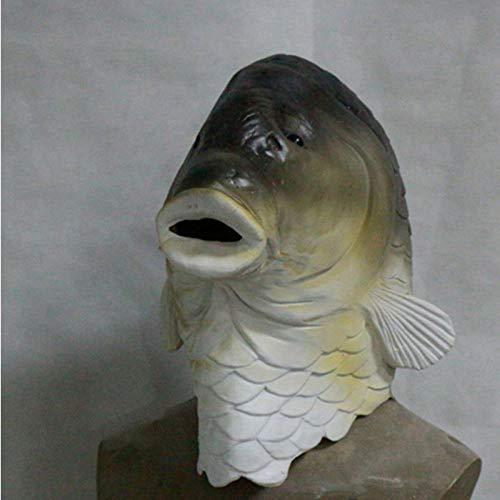 Kostüm Fisch Niedlichen - qiumeixia1 Heiße Festival Toys realistische niedlichen Tier Latex Fisch Maske Weihnachten Halloween Party