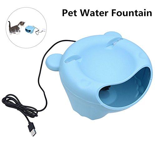 LanLan Dispensador de Agua automático para Mascotas, dispensador de la Fuente de Agua Circular para Animal doméstico como el Perro o Gato (empaquetado de la Caja de Papel)