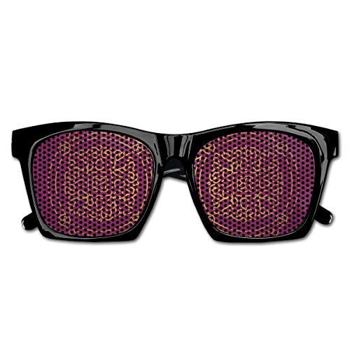 EELKKO Mesh Sunglasses Sports Polarized, Persian Ornamental Lace Pattern Traditonal Authentic Arabic Folkloric Boho Design,Fun Props Party Favors Gift Unisex