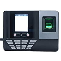 Explopur Check In Machine,Face Fingerprint Password Attendance Machine Employee Checking-in Payroll Recorder 2.8 inch LCD Screen DC 5V Facial Recognition Time Attendance Clock