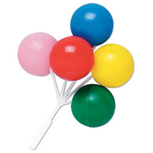 Oasis Supply Ballon-Cluster für Cupcakes und Kuchen, 12,7 cm, mehrfarbig, 4 Stück (Superbowl Party Supplies)