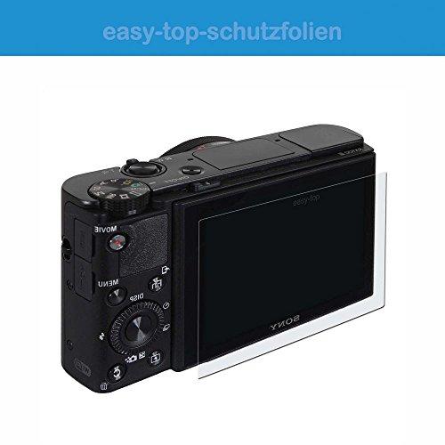 Preisvergleich Produktbild Panasonic Lumix DMC-GX80 - 3x easy-top kristallklare Anti-Shock Displayschutzfolie - crystal clear Display Schutz Folie Schutzfolie