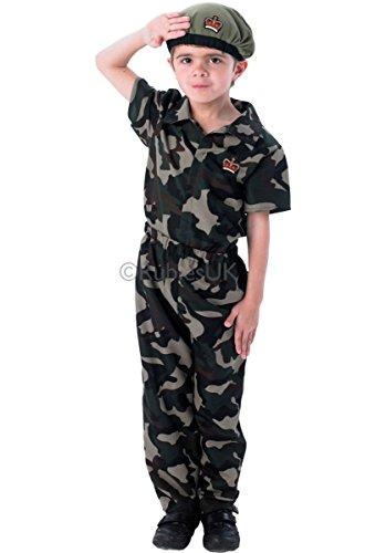 (Fancy Me Jungen Tarnfarbe Soldaten Streitkräfte Militär Armee Junge Kostüm Kleid Outfit 3-8 Jahre - 122-128)