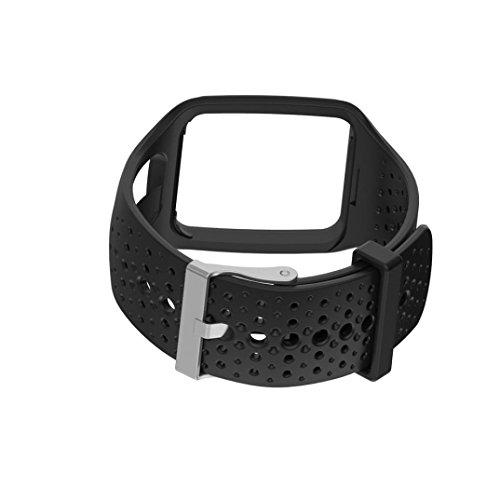 Kaiki für TomTom Runner Cardio GPS HR Watch Armband,Ersatz Silicagel Soft Band Strap Für TomTom Runner Cardio GPS HR Watch (Black)