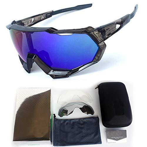 Polarisierte Sonnenbrille mit UV-Schutz Polarisierte Sport-Sonnenbrille Full Frame Bunte PC-Objektiv für Männer Frauen Outdoor Seaside Travel Angeln Fahren Reiten Klettern Superleichtes Rahmen-Fischen