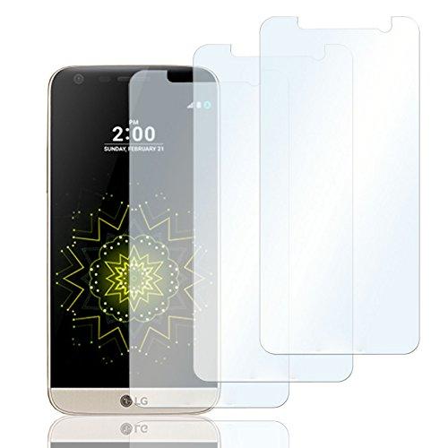 Eximmobile 3X Schutzfolien für LG G5 Folie | Bildschirmschutzfolie | Bildschirmfolie Schutzfolie | selbstklebend | transparent | blasenfrei | kein Glas | Flexible Folien