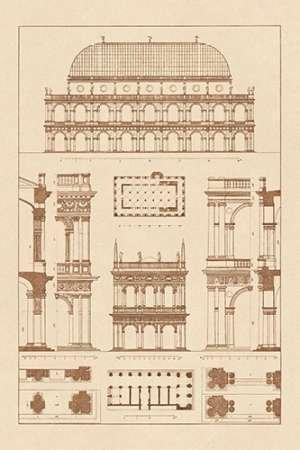 Feeling at home Stampa-Artistica-su-Tela-ARROTOLATA-Basilica-di-Vicenza-e-Biblioteca-di-San-Marco-a-Venezia-Buhlmann-J.-museo-cm63x42