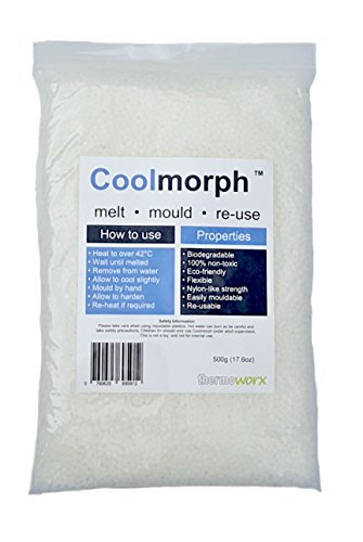 Thermoworx CoolmorphTM 500g | Lower melting point hand mouldable eco-friendly thermoplastic. Reusable unlimited uses - DIY, Crafts, Repairs, Moulds, Casting, Modelling, Grips, Prototypes. TOP QUALITY!