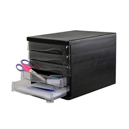 Schubladen-Box als Schreibtisch Organizer - 5 Ablagefächer für die Brief-Ablage oder Dokumenten-Ablage - Cleveres Ordnungssystem für das Büro - Schubladenkasten als Sortierstation für Papier und Post