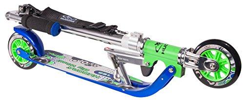 HUDORA Big Wheel Scooter 125 mm, Kinder Scooter - Kinder Roller, blau/grün, 14753