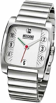 Moschino MW0008 - Reloj de caballero de cuarzo, correa de acero inoxidable color plata