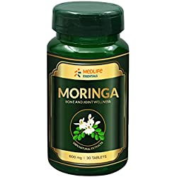 Medlife Essentials Moringa - Natural Source Of Vitamins, Minerals, Proteins And Amino Acids - 30 Tablets