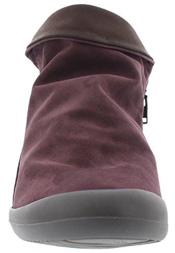 Softinos Farah Nubuck, Bottes Classiques femme Purple/DK. Brown