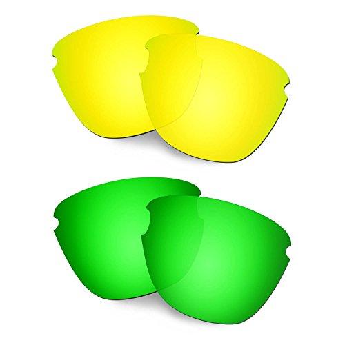 HKUCO Verstärken Ersatz-Brillengläser für Oakley Frogskins Lite 24 Karat Gold/Grün Sonnenbrille