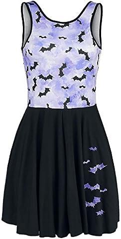 Outer Vision Pastel Bats Dress black-blue S