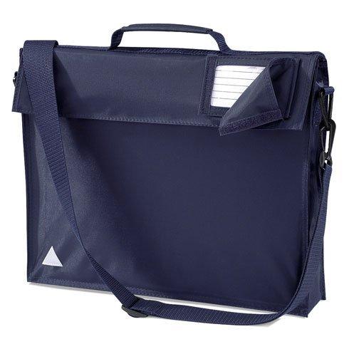 Junior Bücher Tasche Schul Tasche mit Gurt - 5 Farben - O/S, Französisch Marineblau - Shirt Tasche Aktentasche