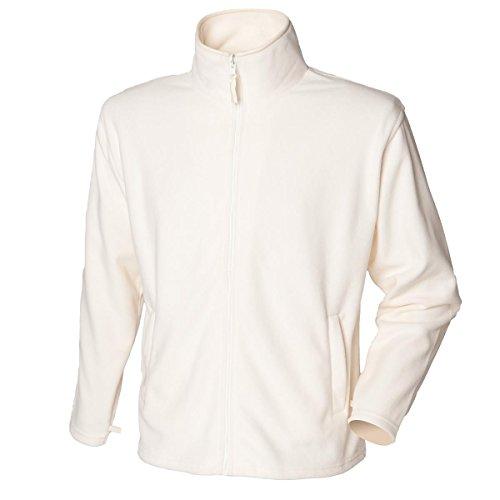 Nuovo da uomo Henbury giacca in micropile con cerniera Shell Casual Poliestere Giacche Top Cream X-Large