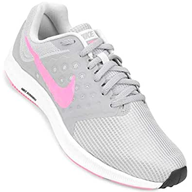 Nike Women's WMNS Downshifter 7 Vast Grey/Sunset Pulse Running Shoes-3 (852466-15)