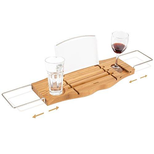 HOMFA Bandeja para Bañera Bandeja de bambú para bañera Estante...