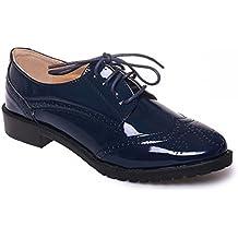 Primtex - Zapatos de cordones para mujer