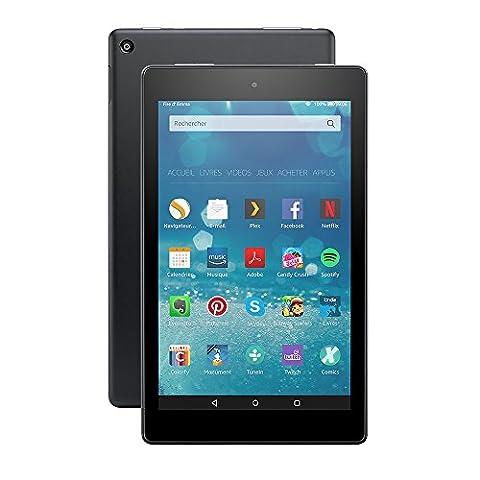 Tablette Fire HD 8, écran 8'' (20,3 cm), Wi-Fi, 16 Go (Noir) - Avec offres spéciales