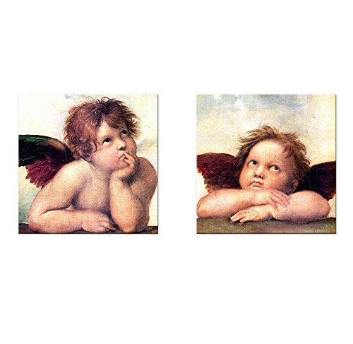 Bilderdepot24 Kunstdruck – Raffael Engel – Detail Sixtinische Madonna