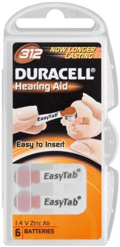 Duracell pile bouton auditive cellules/zinc-air-v312