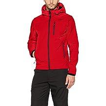 CMP – F.lli Campagnolo,   Softshell para hombre 3a01787N Chaqueta, Otoño-invierno, hombre, color Ferrari-Nero, tamaño 52