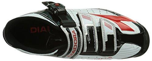 Diadora X Tornado Scarpe Da Ciclismo Per Adulti Unisex - Mountain Bike Bianco (bianco / Nero / Rosso 1470)