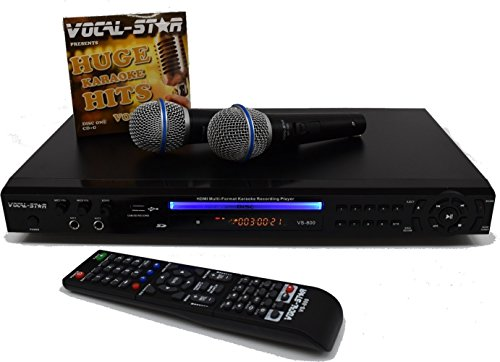 Vocal-Star VS-800 HDMI Multi Formato Karaoke con 2 microfoni e 300 canzoni...